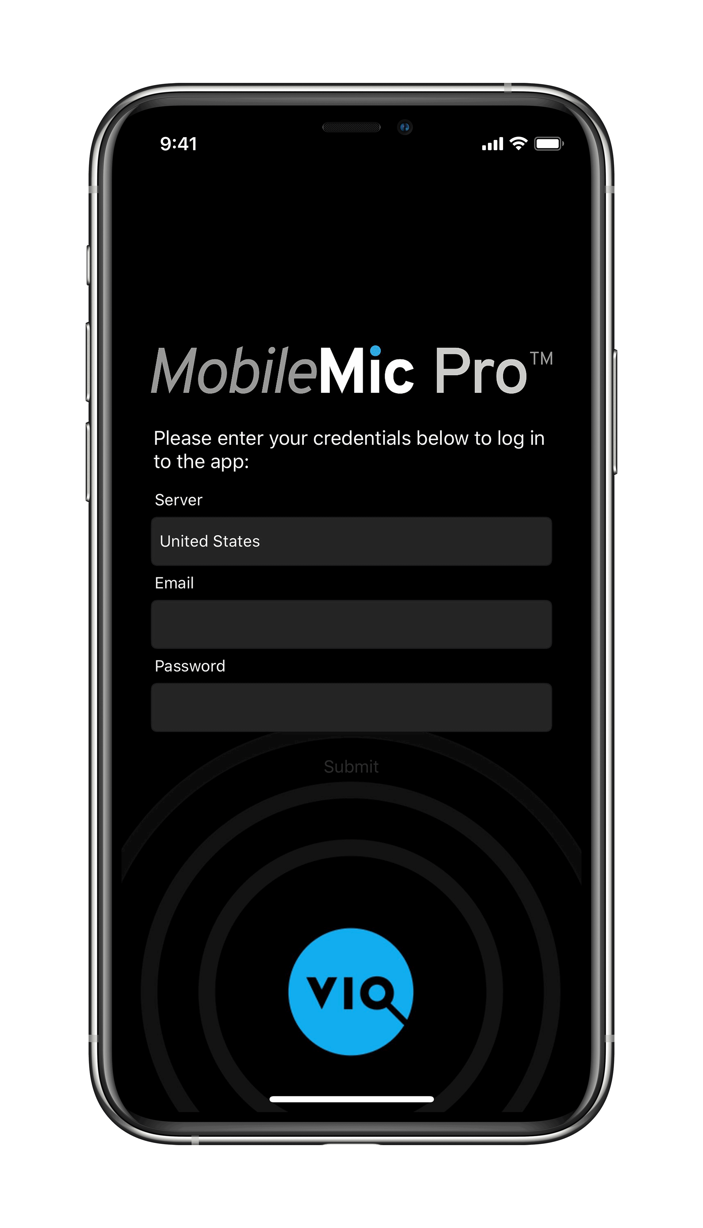 MobileMic Pro Login