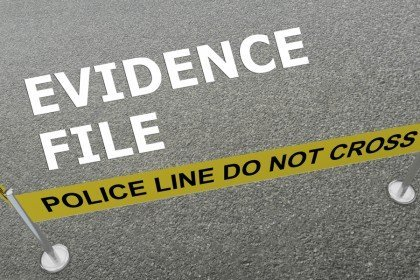 evidence file, do not cross police line image