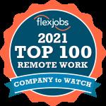 FlexJobs 2021 Top 100 Remote Work